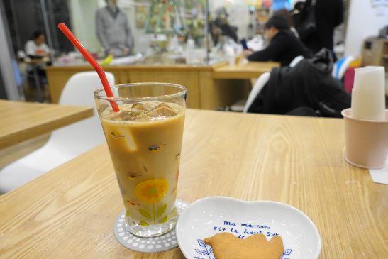 心斎橋ことりカフェのカフェオレ