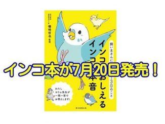 インコがおしえるインコの本音~飼い主さんに伝えたい130のことが2017年7月20日発売!
