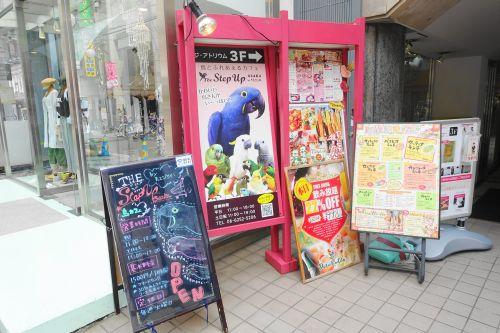 大阪心斎橋のインコカフェ「ザステップアップ大阪」があるビルの入り口