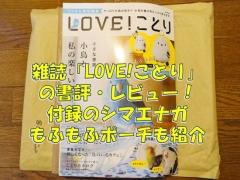 雑誌「LOVE!ことり」の書評とレビュー!付録のシマエナガもふもふポーチも紹介