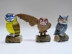 歌舞伎かけるフクロウのカブクロウの鳥ガチャガチャがとても精巧