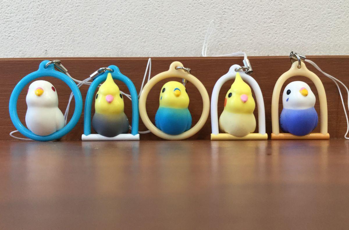 鳥ガチャ「止まり木インコ」の全6種類中、5種類