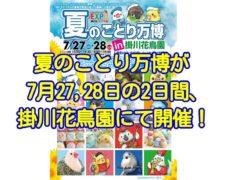 夏のことり万博が2019年7月27,28日に掛川花鳥園にて開催!