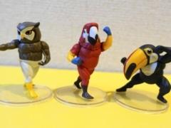 ガチムチ鳥4のアカコンゴウインコさんとアフリカオオコノハズクさん、オオハシさん