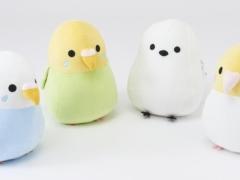 しまむらのオンラインストアで2021年10月15日より予約販売開始の小鳥シリーズのダイカットクッション(セキセイインコ、シマエナガ、オカメインコ4種類)